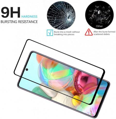 Folie de sticla Samsung Galaxy A71, 5D FULL GLUE Negru
