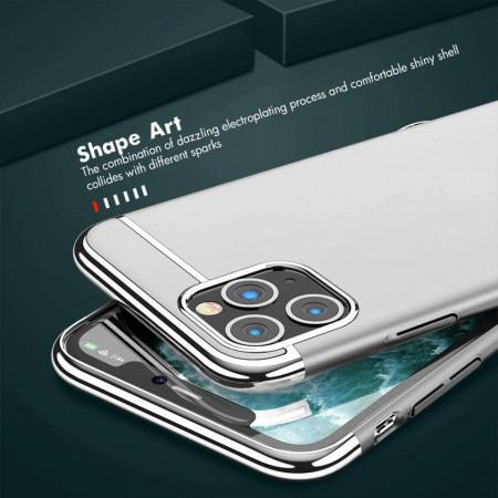 Husa Apple iPhone 11, Elegance Luxury 3in1 Silver