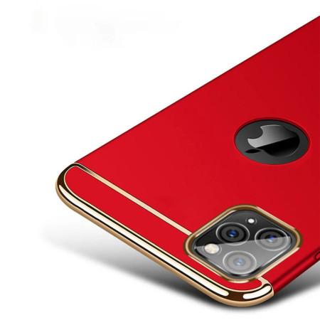 Husa Apple iPhone 11 PRO MAX, Elegance Luxury 3in1 Rosu