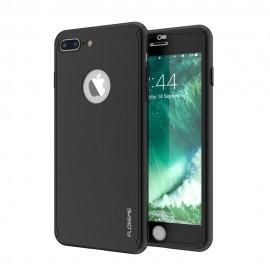 Husa Apple iPhone 7 Plus, FullBody Elegance Luxury Black, acoperire completa 360 grade cu folie de sticla gratis