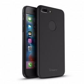 Husa Apple iPhone 7 Plus, FullBody Elegance Luxury iPaky Black, acoperire completa 360 grade cu folie de sticla gratis