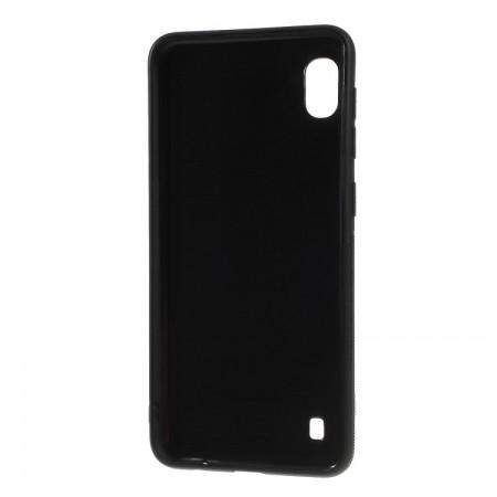 Husa pentru Samsung Galaxy A10, Perfect Fit, cu insertii de carbon, negru
