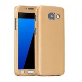 Husa Samsung Galaxy A3 2016, FullBody Elegance Luxury Gold, acoperire completa 360 grade cu folie de sticla gratis