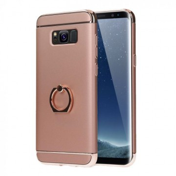 Husa Samsung Galaxy J3 2017, Elegance Luxury 3in1 Ring Rose-Gold