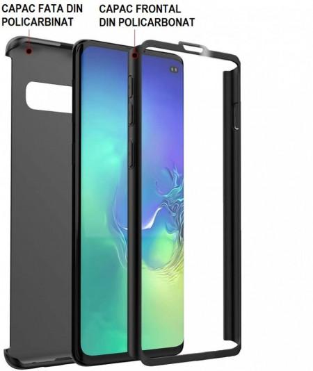 Husa Samsung Galaxy S20 Ultra, FullBody Elegance Luxury Negru, acoperire completa 360 grade cu folie de protectie gratis