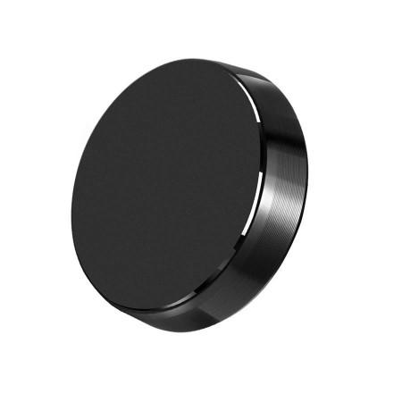 Suport auto magnetic de culoare neagra pentru telefoane mobile, prindere cu adeziv