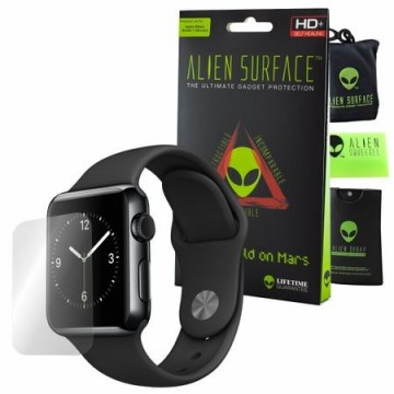 FOLIE ALIEN SURFACE HD, APPLE WATCH 38MM, PROTECTIE ECRAN + ALIEN FIBER CADOU