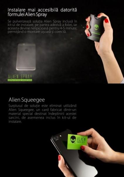 Folie Alien Surface HD, Samsung GALAXY S10 Plus spate, laterale + Alien Fiber Cadou