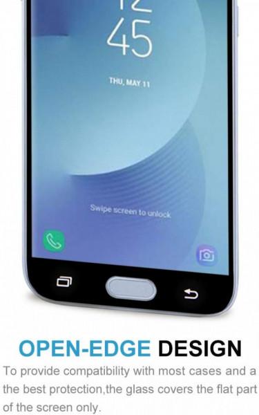 Folie de sticla Samsung Galaxy J5 2017, Elegance Luxury margini colorate Black