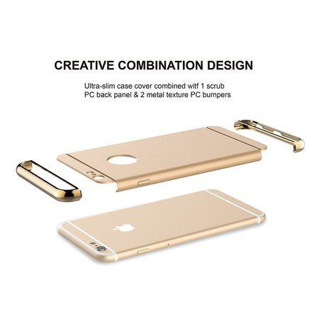 Husa Apple iPhone 6/6S, Elegance Luxury 3in1 Gold