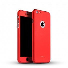 Husa Apple iPhone 6/6S, FullBody Elegance Luxury iPaky Red , acoperire completa 360 grade cu folie de sticla gratis