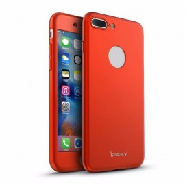 Poze Husa Apple iPhone 7 Plus, FullBody Elegance Luxury iPaky Red, acoperire completa 360 grade cu folie de sticla gratis