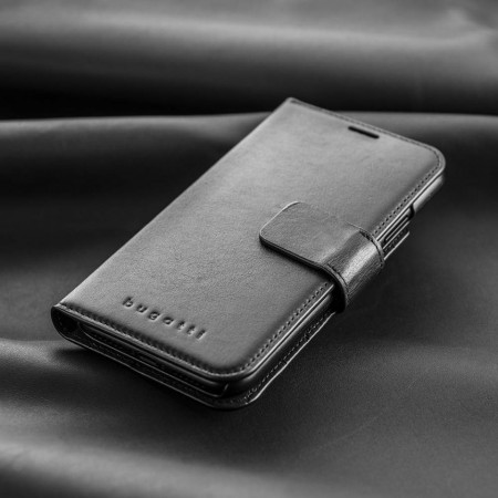 Husa Bugatti din piele naturala pentru iPhone XS MAX