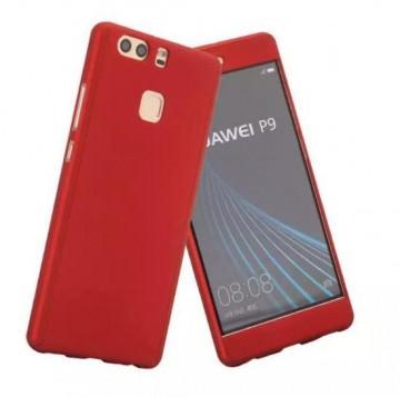 Husa Huawei P10 Lite, FullBody Elegance Luxury Red, acoperire completa 360 grade cu folie de sticla gratis
