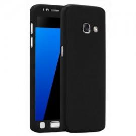Husa Samsung Galaxy J7 2017, FullBody Elegance Luxury Black, acoperire completa 360 grade cu folie de sticla gratis