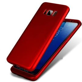 Husa Samsung Galaxy S8 Plus, FullBody Elegance Luxury Red, acoperire completa 360 grade cu folie de protectie gratis
