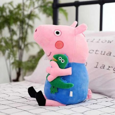 """Jucarie de Plus Peppa Pig """"Purcelusul George cu dinozaur"""