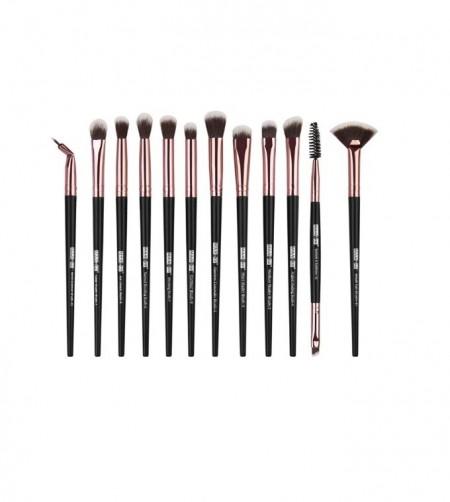 Set 12 pensule Machiaj Cosmetic Make-up Profesional, Black