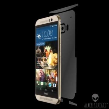 Folie Alien Surface HD, HTC One M9, protectie spate + laterale + Alien Fiber Cadou