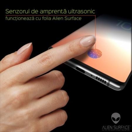 Folie Alien Surface HD, Samsung GALAXY S10 Plus, protectie ecran + Alien Fiber Cadou