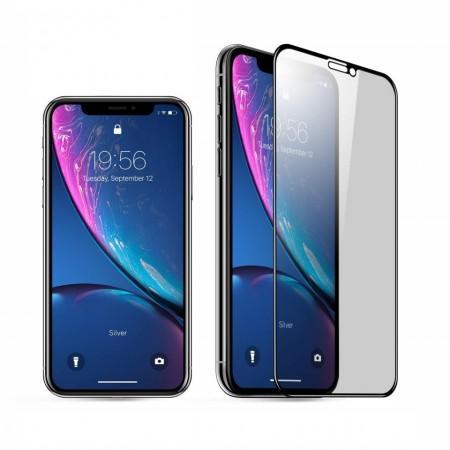 Folie de sticla 5D Apple iPhone XR, margini colorate Negru