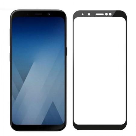 Folie de sticla Samsung Galaxy A7 2018, 10D FULL GLUE Negru