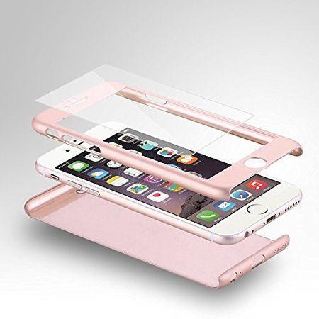 Husa Apple iPhone 7, FullBody Elegance Luxury Rose-Gold, acoperire completa 360 grade cu folie de sticla gratis
