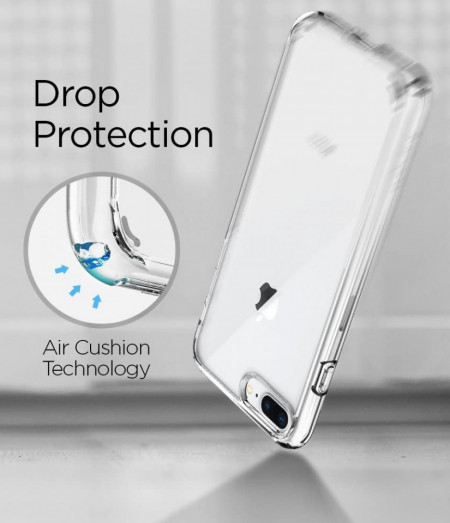 Husa Apple iPhone 8 Plus, Silicon TPU 2.0mm slim Transparenta