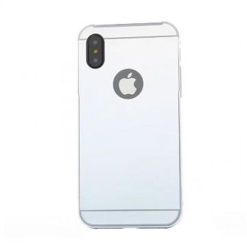Husa Apple iPhone X, Elegance Luxury tip oglinda Argintiu