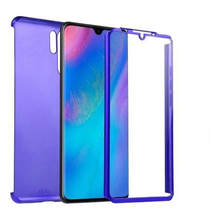 Husa FullBody Albastru pentru Huawei P30 PRO cu folie de sticla inclusa