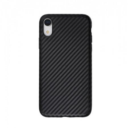 Husa pentru Apple iPhone XR, Perfect Fit, cu insertii de carbon, negru