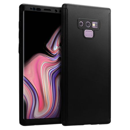 Husa Samsung Galaxy Note 9, FullBody Elegance Luxury Negru, acoperire completa 360 grade cu folie de protectie gratis