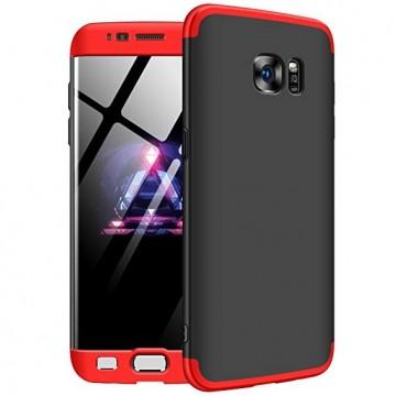 Husa Samsung Galaxy S7 Edge, FullBody 360° 3in1 Negru-Rosu