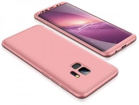 Husa Samsung Galaxy S9, FullBody Elegance Luxury Rose-Gold, acoperire completa 360 grade cu folie de protectie gratis