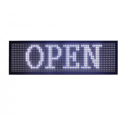 Panou Led de Exterior Programabil/Reclama Luminoasa 200x40 ALB