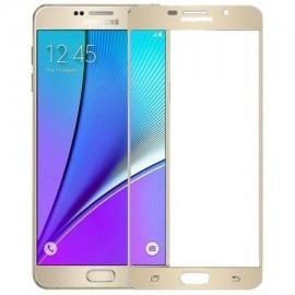 Folie de sticla 3D Gold pentru Samsung Galaxy J5 2016