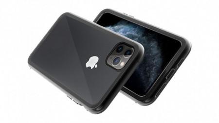 Husa Apple iPhone 11 PRO Negru, Perfect Fit cu spate de sticla securizata premium + folie de sticla gratis !