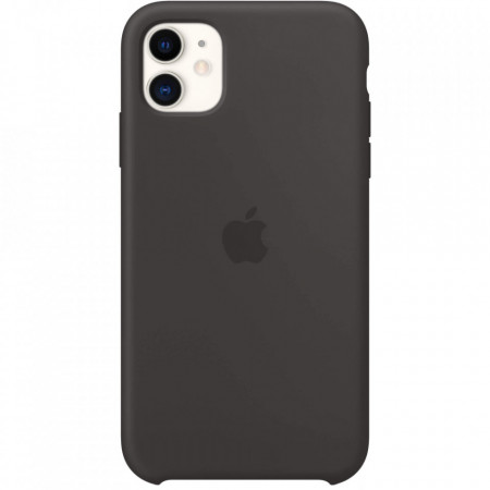 Husa Apple iPhone 11, Silicon antisoc, Negru