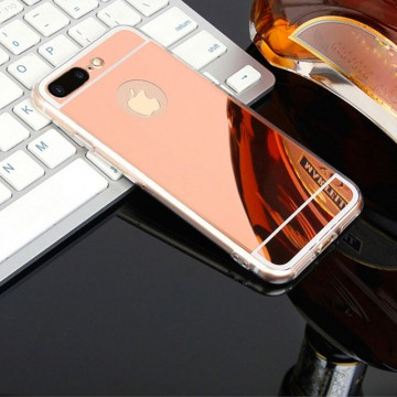 Husa Apple iPhone 7 Plus, Elegance Luxury tip oglinda Rose-Gold