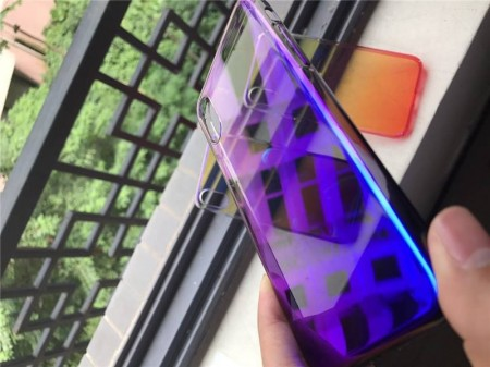 Husa Apple iPhone 8 Plus, Gradient Color Cameleon Albastru-Galben