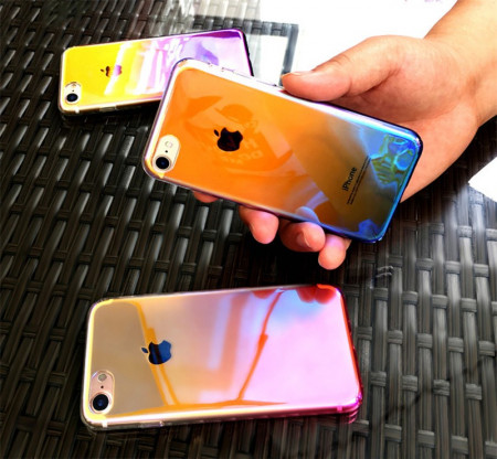 Husa Apple iPhone SE2, Gradient Color Cameleon Roz / Pink