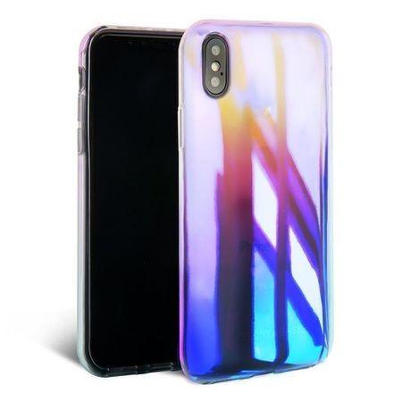 Husa Apple iPhone XS MAX, Gradient Color Cameleon Albastru-Galben