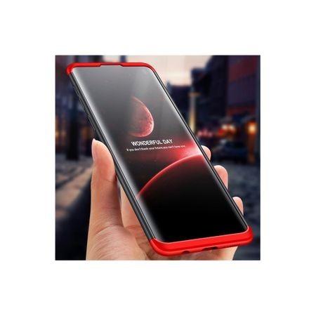 Husa Samsung Galaxy S10, Elegance Luxury, 360° 3in1 Negru-Rosu
