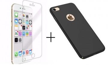 Pachet husa Elegance Luxury slim Antisoc Black pentru Apple iPhone 7 cu folie de sticla gratis !