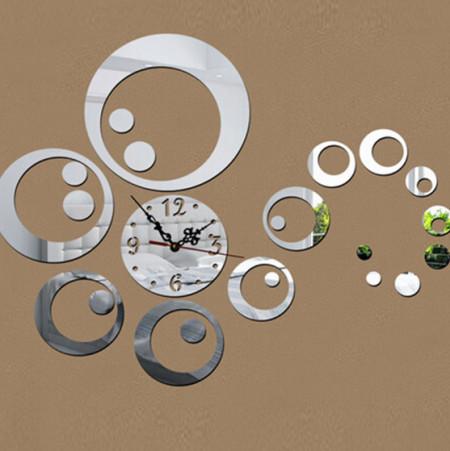 Set Oglinzi Design Modern Ceas Perete - Oglinzi Decorative Acrilice Cristal Ceas Perete - Diamant - Luxury Home 23 bucati/set