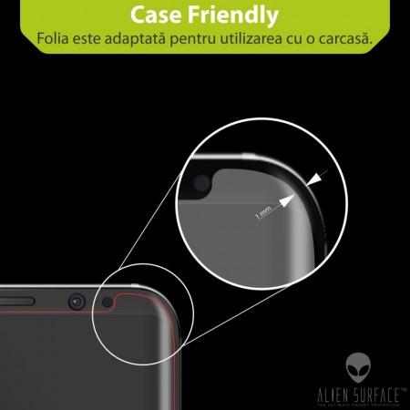 Folie Alien Surface HD, Samsung Galaxy A6 (2018), protectie ecran + Alien Fiber Cadou
