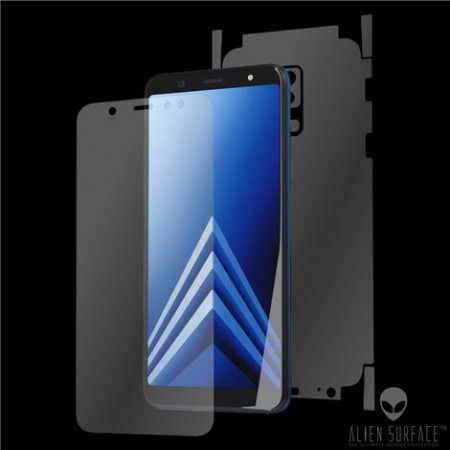 Folie Alien Surface HD, Samsung GALAXY A6 Plus (2018), protectie fata,spate,laterale + Alien Fiber Cadou