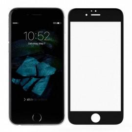 Folie de sticla 5D Apple iPhone 8, Elegance Luxury margini colorate Black