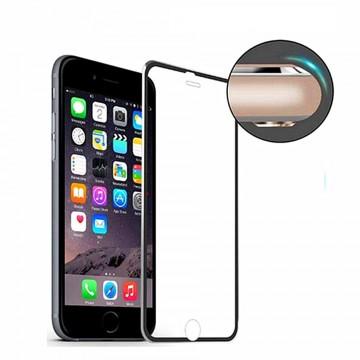 Folie de sticla Apple iPhone 7, Elegance Luxury cu rama metalica Black