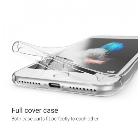 Husa Apple iPhone 7, FullBody ultra slim TPU , acoperire completa 360 grade